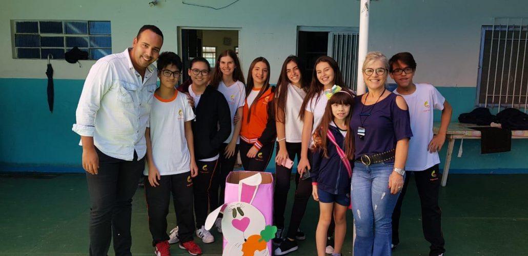 Ação de Páscoa do Colégio Guaiaúna | Instituto Cuida de Mim