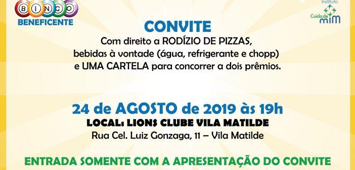 Bingo Beneficente e Noite da Pizza no Instituto Cuida de Mim